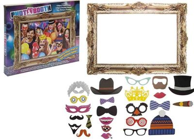 Photo Booth 24 Selfie Props & Frame