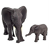 Realistic African Elephant & Calf Figurine Toys by Animal Planet