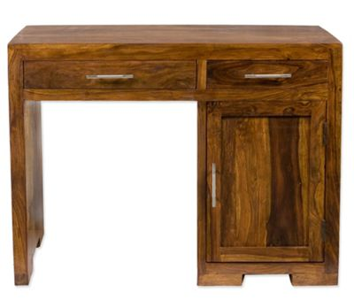 Elements Office Single Pedestal Desk in Warm Lacquer