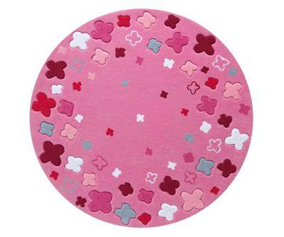 Esprit Bloom Field Pink Kids Round Rug