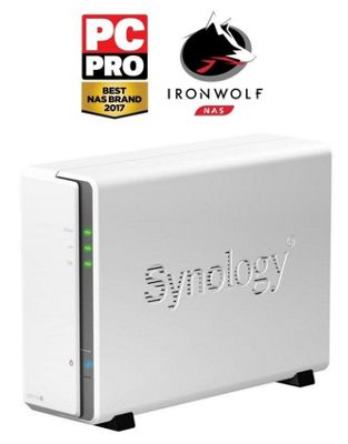 Synology DiskStation DS115j/2TB-IronWolf 1-Bay 2TB (1x2TB Seagate IronWolf) Desktop Network Attached Storage