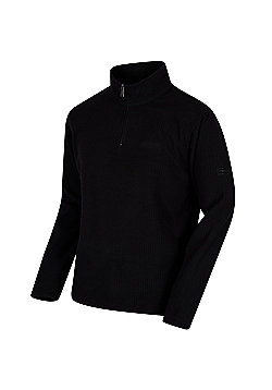 Regatta Elgon II Textured Grid Half Zip Fleece - Black