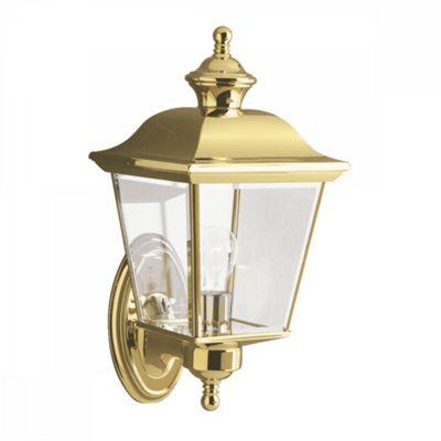 Polished Brass Medium Outdoor Wall Light - 1 x 60W E27
