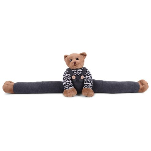 Soft Brown Teddy Bear Fabric Draught Excluder