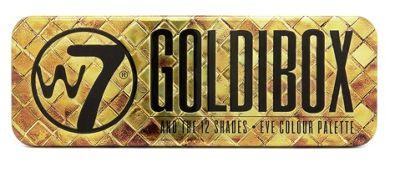 W7 Cosmetics Goldibox 12 Shades Golden Eyeshadow Eye Shadow Kit Make Up Palette