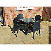 Brackenstyle Madrid Pedestal Table and 4 Arm Chairs Set - Seats 4