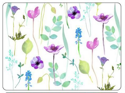 Buy Pimpernel Water Garden Placemats, White, Set of 6 from our ...