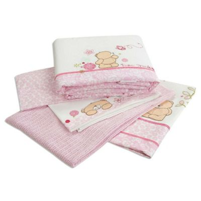Forever Friends Beautiful Luxury Cot Bed Coverlet Bedding Bale