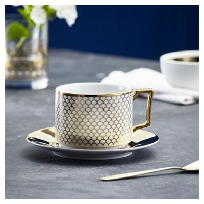 buy fox ivy soho coffee cup saucer white from our fox. Black Bedroom Furniture Sets. Home Design Ideas