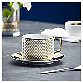 Fox & Ivy Soho Coffee Cup & Saucer White