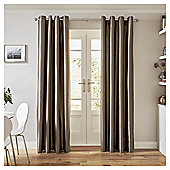 Tesco Faux Silk Curtains-   - 66x54 - Mocha