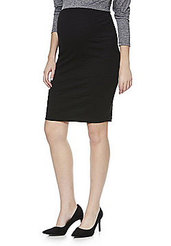 Mamalicious Textured Jersey Maternity Pencil Skirt - Black