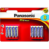 Panasonic Pro Power Premium Alkaline AA Batteries 8 Pack