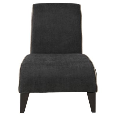 Jules fabric accent chair black and mink
