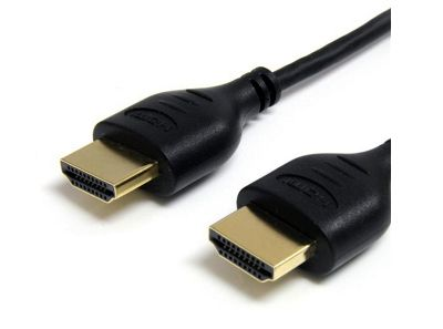 StarTech.com 3 feet High Speed Slim HDMI Digital Video Cable with Ethernet - M/M
