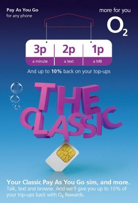 O2 Classic Pay As You Go