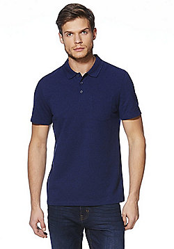 F&F Pique Polo Shirt - Denim