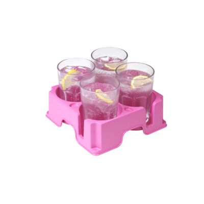 Muggi - The Safest Drinks Tray in the World - Pink