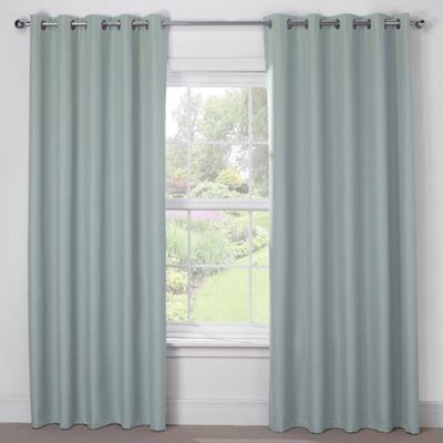 Julian Charles Luna Duck Egg Blackout Eyelet Curtains - 66x54 Inches (168x137cm)