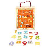 Bigjigs Toys Wooden Magnetic Numbers