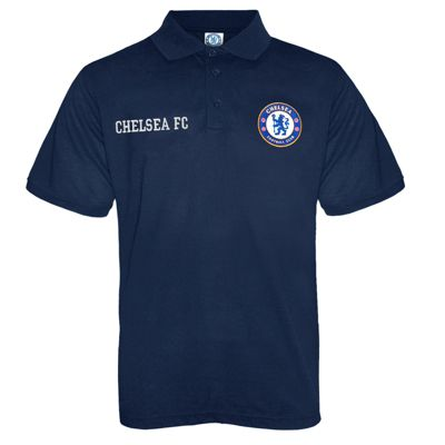 Chelsea FC Boys Polo Shirt Navy 8-9 Years MB