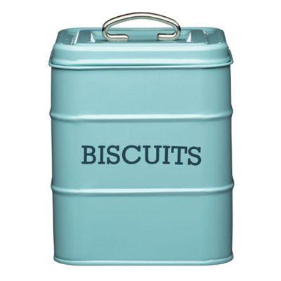 Living Nostalgia Vintage Biscuit Tin, Blue