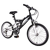 "Terrain Freemont 20"" Dual Suspension Boys 14"" Black Mountain Bike"