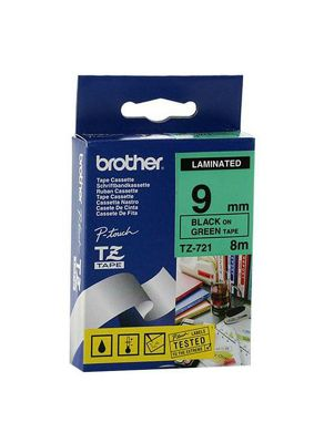 Brother 9mm Tape Black/Green