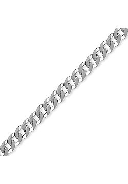 Sterling Silver 7mm Gauge Chain Curb Bracelet - 8.5 inch Gents