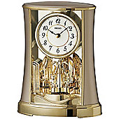 Seiko QXN227G Rotating Pendulum Clock│White Dial│Black Analog Numbers│Gold