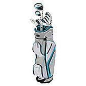 Golfgirl Fws3 Ladies Petitie Complete All Graphite Teal Left Hand Golf Clubs Set W/ Cart Bag