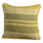 Homescapes Cotton Rajput Ribbed Yellow Cushion, 60 x 60 cm