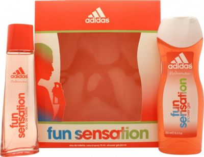 Adidas Fun Sensation Gift Set 75ml EDT + 250ml Shower Gel For Women