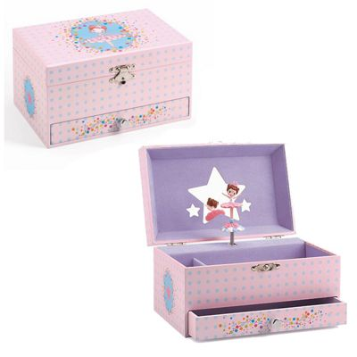 Girls Musical Jewellery Box - Elegant Ballerina