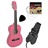 Tiger 1/4 Size Beginners Classical Guitar Colour-Pink