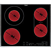Whirlpool AKT8700IX 600mm Ceramic Hob 4 x Zones Touch Control