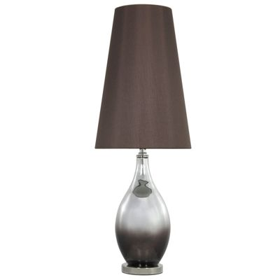 Brown Smoked Glass Table Lamp