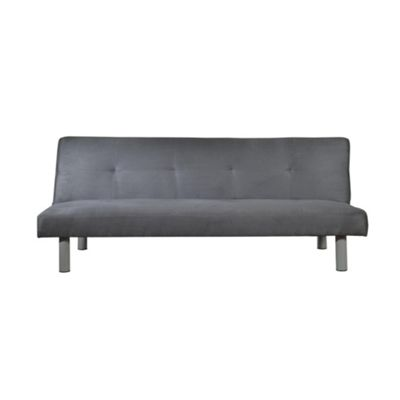 Comfy Living Faux Suede Sofa Bed in Grey