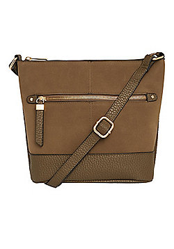 F&F Bucket Cross-Body Bag Khaki One Size