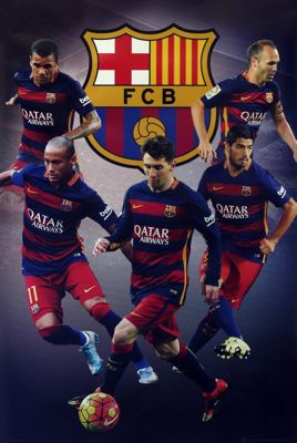 Barcelona FC Star Players BFC Poster