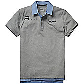 Red Bull Racing Pitlane Poloshirt F1 Fan Motorsport Mens - Grey