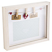 Hugs And Kisses Photo Frame 4 x 6""