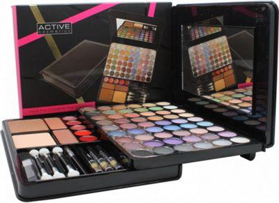 Active Glamour Face Folio Compact - 54 Eyeshadows + 1 Compact Powder + 2 Blushers + 5 Lip Glosses + 3 Pencils & Brush Set