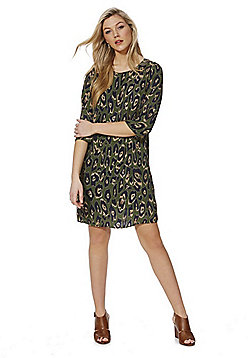 Vero Moda Leopard Print Dress - Khaki