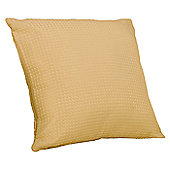 Hamilton Mcbride Waffle Gold Cushion Cover Piped - 43x43cm