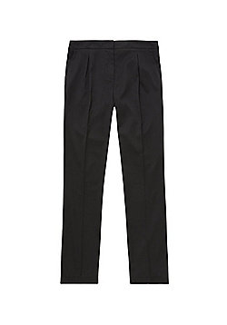 F&F School Girls Soft Touch Tapered Trousers - Black