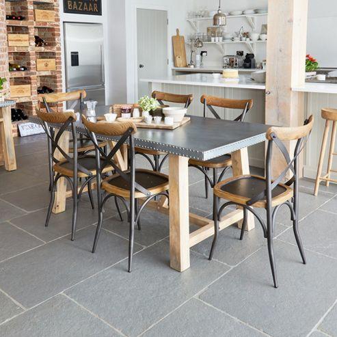 Kuba Zinc Large Dining Table
