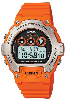 Casio Sports Unisex Resin Chronograph Watch W-214H-4AVEF