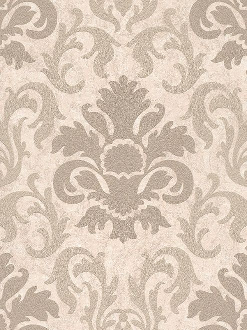Carat Damask Glitter Wallpaper - Gold and Beige - 13343-10