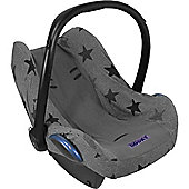 Dooky Infant Car Seat Cover 0+ Grey Stars